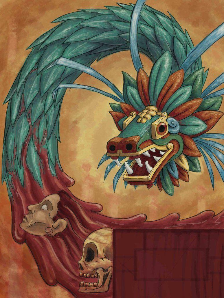 Boceto Para Elaborar Un Mural Quetzalcoatl Aztec Art Mayan