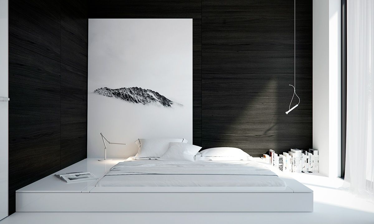 White Minimalist Spaces That Will Make You Forget All About Color Minimalist Bedroom Design Minimalist Bedroom Decor White Bedroom Design