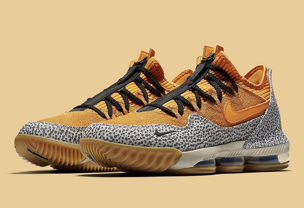Lebron Xvi Low Sneakers In Orange