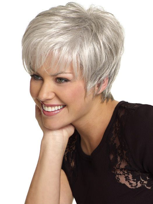 New Fashion Silvery white healthy lady\'s wig for women free shipping ...