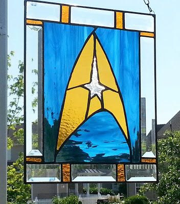 Ginger Dawn … May 2015 Star Trek Stained glass | Stained Glass ...