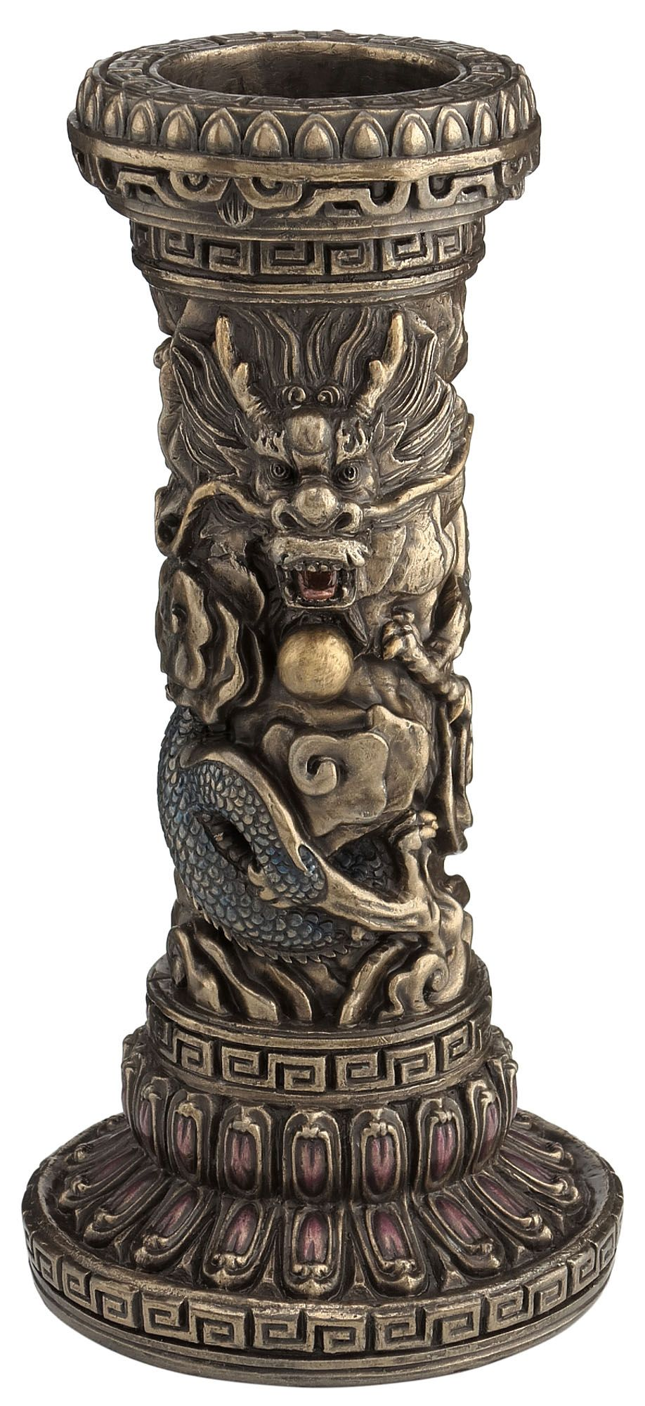 Chinese Dragon Pillar Candle Holder | Oriental in 2019