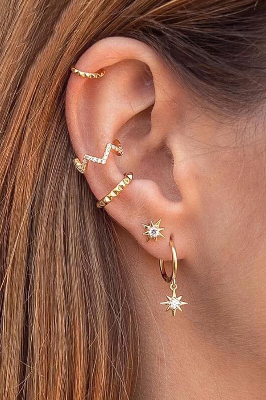 Star CZ Stud Earrings