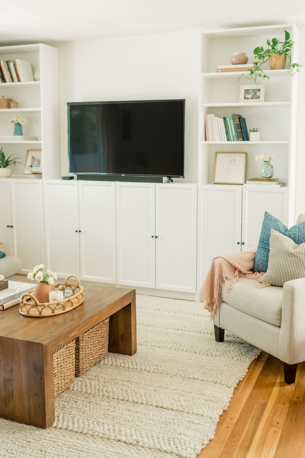 Our Diy Ikea Billy Bookcase Built Ins The Mama Notes Living