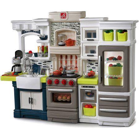 Step2 Elegant Edge Kitchen Large Kitchen Play Set Walmart Com Kitchen Sets For Kids Play Kitchen Sets Pretend Play Kitchen
