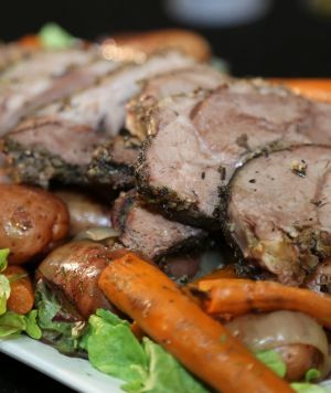 crock pot roasted leg of great for easter this leg of served along with sweet