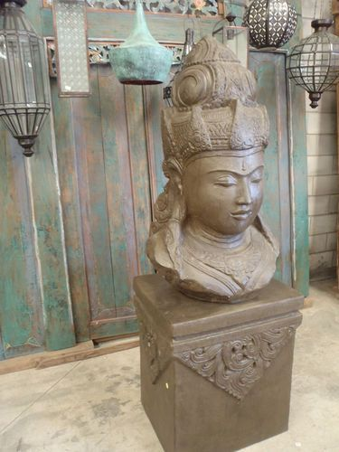 Balinese Shiva Hindu Garden Statue Stand Large CRC Casting Bronze Antique  Finish