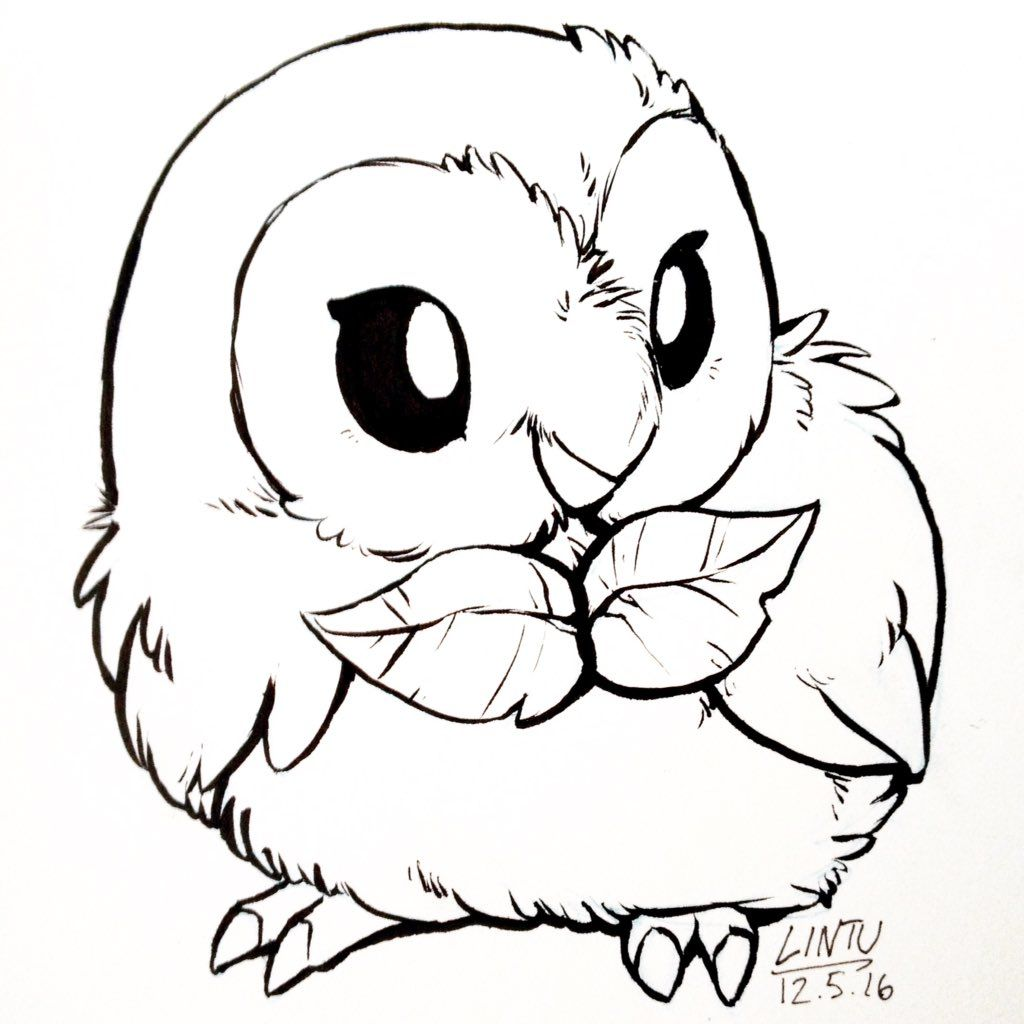 Rowlet Pokemon Doodles From Lintufriikki Cute Pokemon