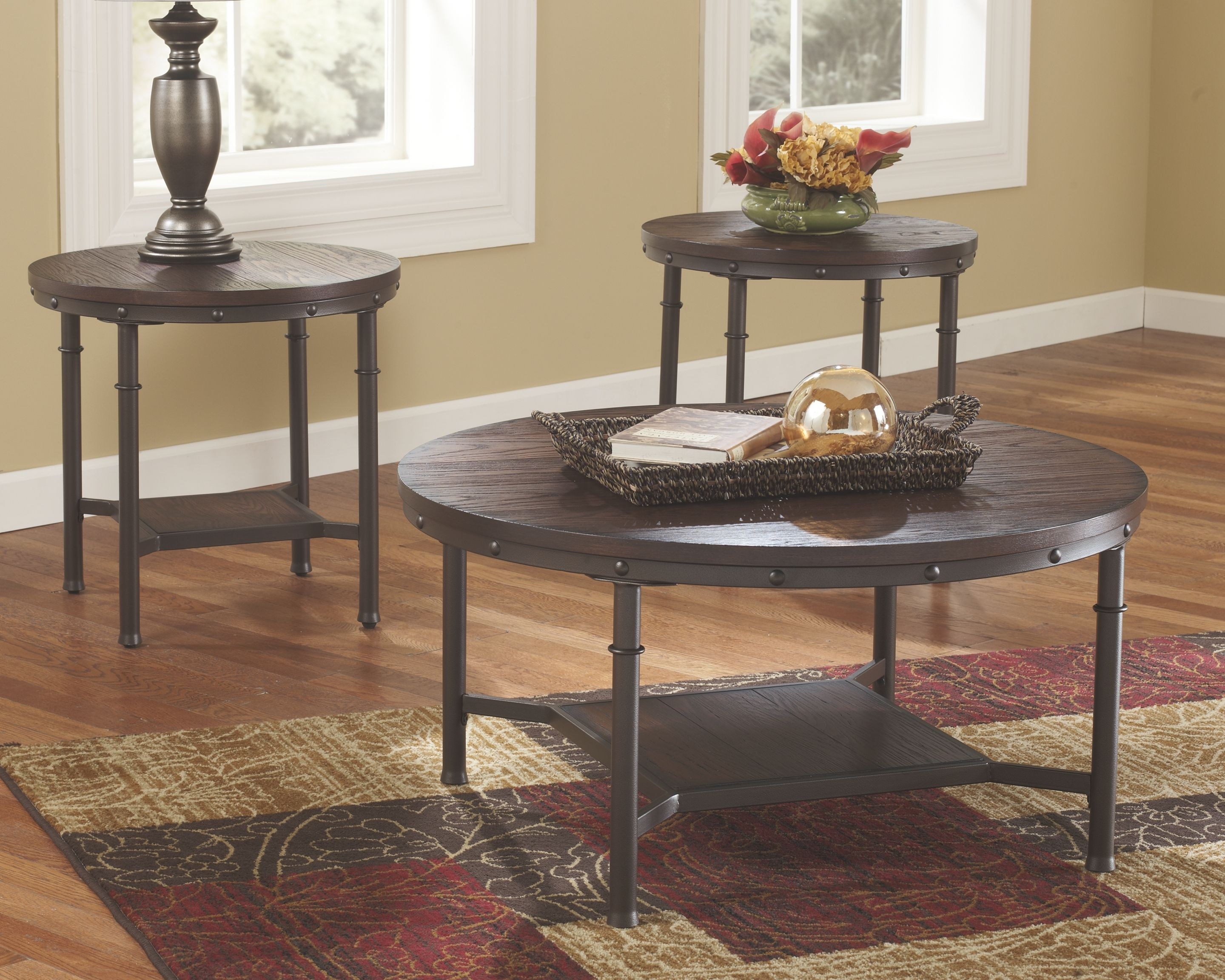 Mattie Occasional Table Set Of 3 By Ashley In 2020 Living Room