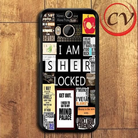 Sherlock Benedict Cumberbatch 221 Street HTC One M8 Black Case