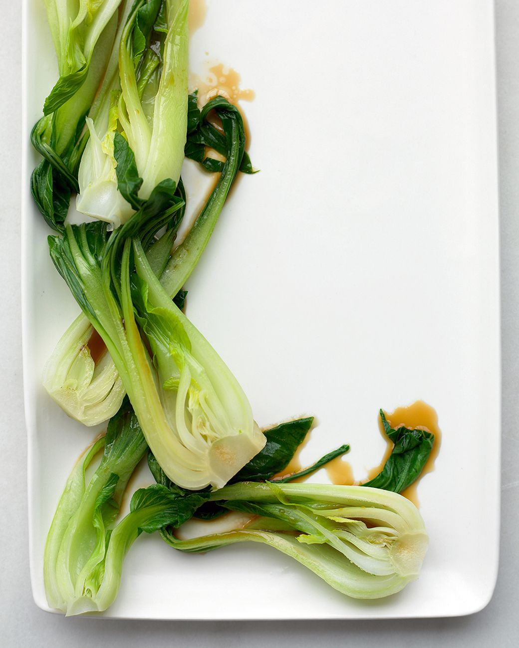 Ginger-Sesame Bok Choy   Receta