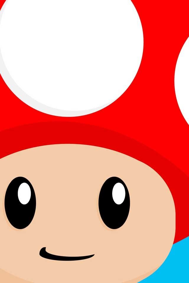 Mushroom Mario Characters Iphone Wallpaper Wallpaper