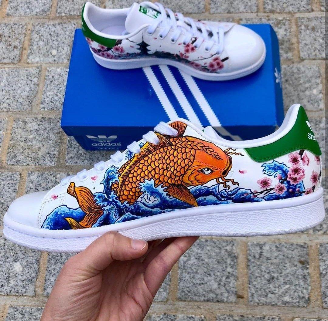 japanese style custom painted adidas