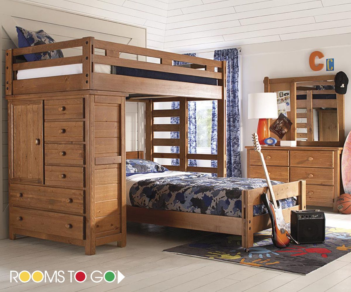 The Creekside Twin Twin Loft Offers A Wonderful Combination Of Rustic Charm And Space Saving Bedroom Furniture Stores Bedroom Furniture Layout Rooms To Go Kids
