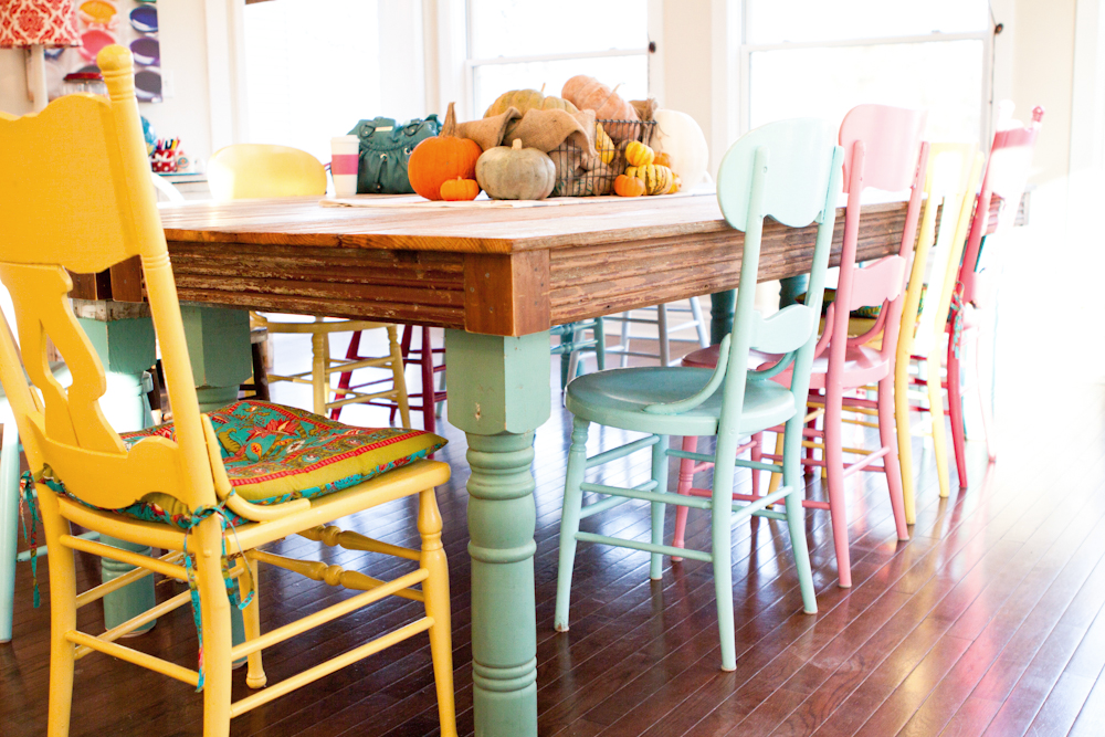 Whatever Painted Dining Chairs Dining Room Colors Home