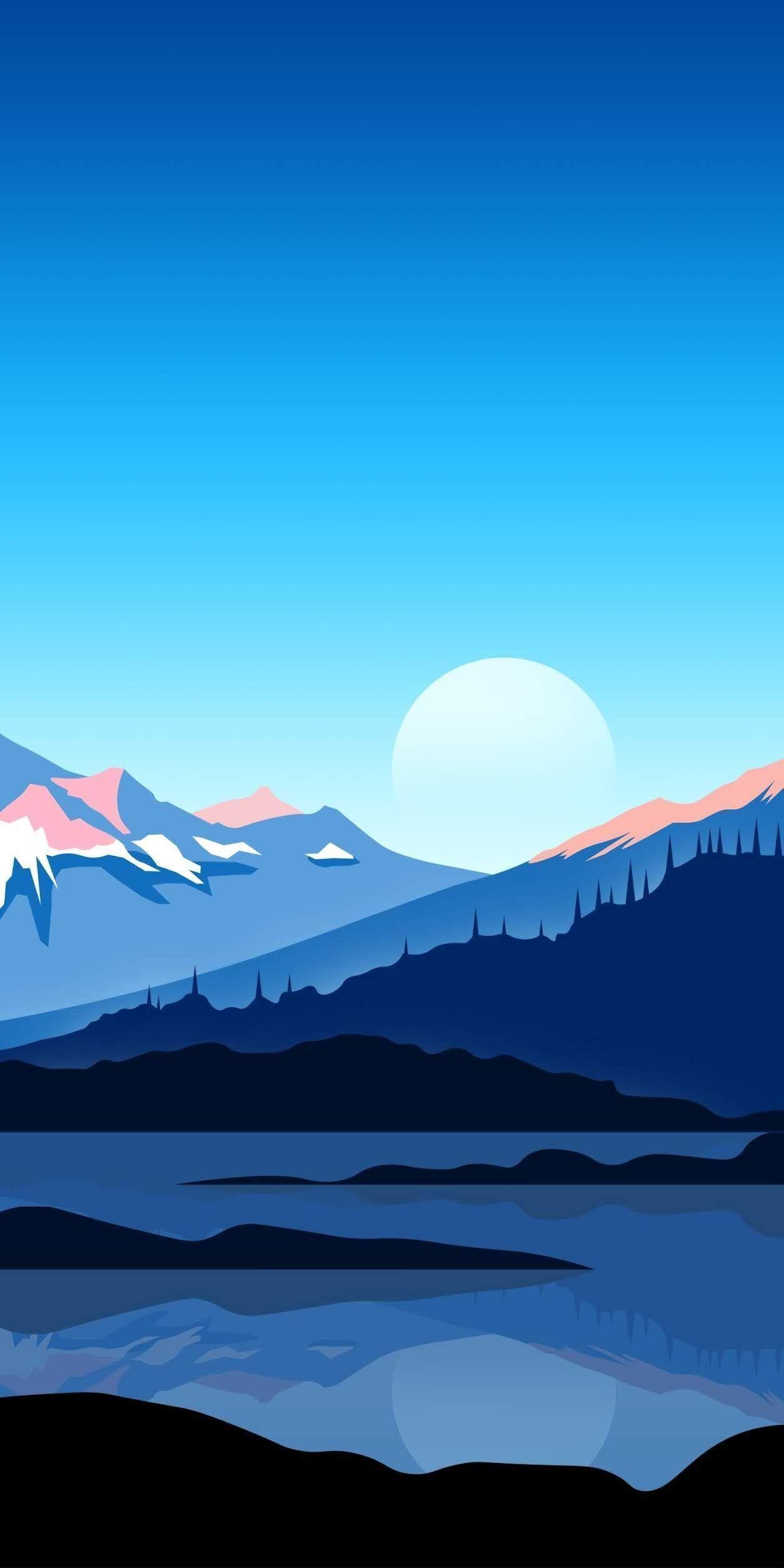 Samsung Wallpaper Minimalist Hintergrundbild Tapete Samsung Wallpaper Blue Hi Full Hd 4k Scenery Wallpaper Landscape Wallpaper Minimalist Wallpaper