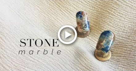Easy Stone Marble Nail Art | GEL POLISH #koreannailart