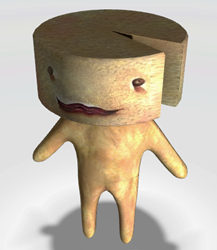 Make your own stinky cheese man out of clay.  Perhaps using a makeup sponge for the head?