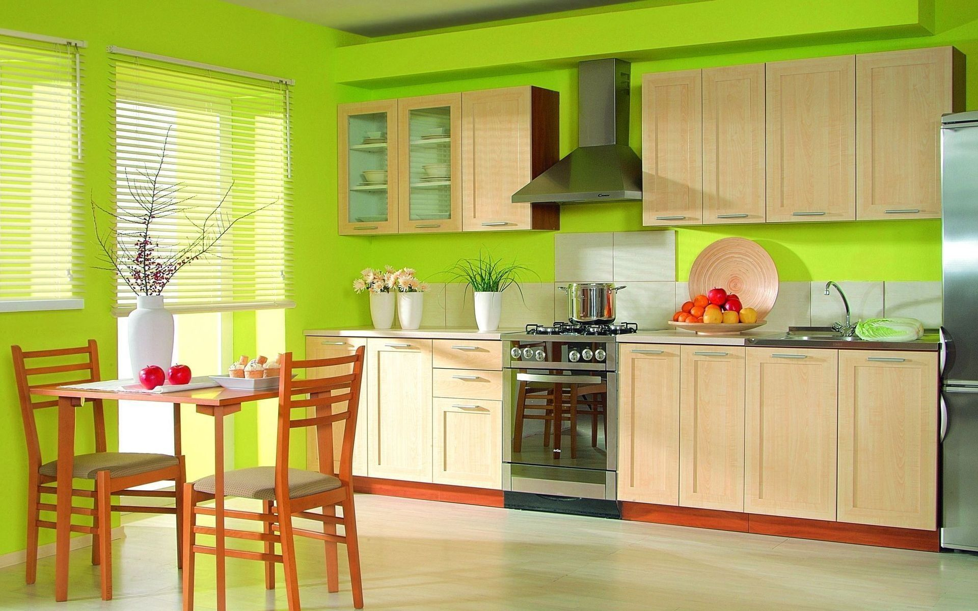 New Kitchen Furniture Kitchen Green Furniture Interior Design 1080p Wallpaper Hdwallpaper Desk Green Kitchen Designs Kitchen Design Decor Rustic Kitchen