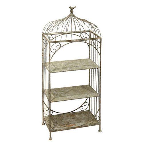 Decorative Bird Cage Shelf Unique Home Decor Accent At Shelley B