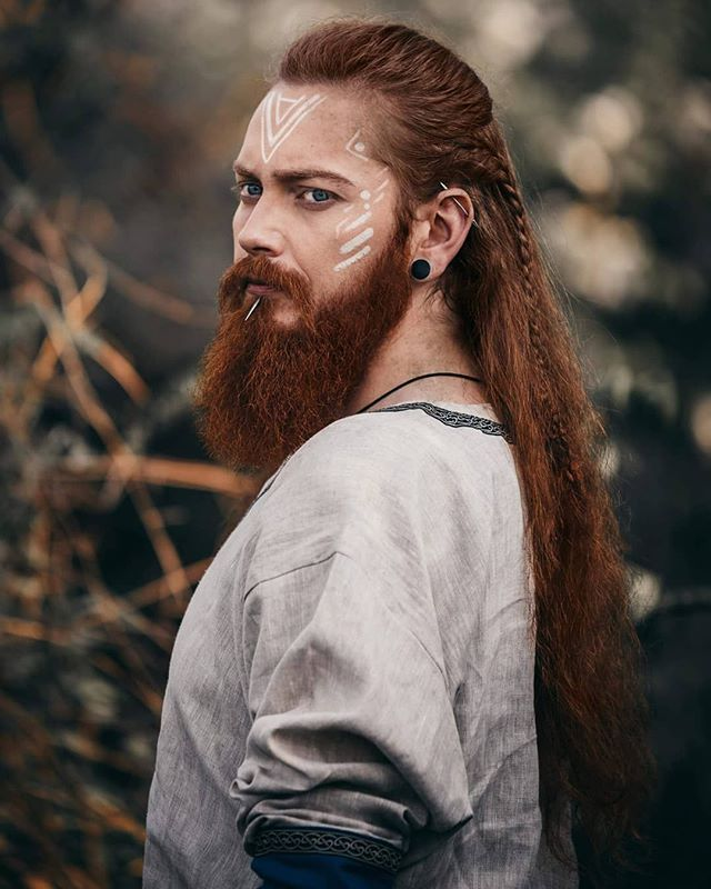 A Good Conversation Starts With Nice Beard Beardsman Tiborpusch Official Use 10beard And Get 10 Off Lin Viking Hair Viking Braids Long Hair Styles Men