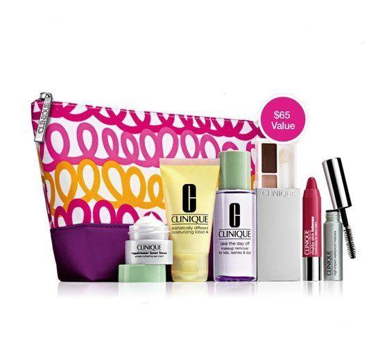 $21.39 - Clinique Official 2013 Winter Gift Set including New Repairwear Laser Focus Wrinkle Eye Cream, New Dramatically Differnt Moisturizing Lotion+, New All About Shadow and More #sets #kits #clinique