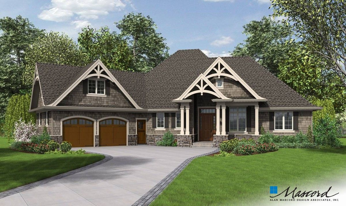 Mascord Top 10 Ranch House Plans Craftsman Style House Plans Craftsman House Plans Craftsman House