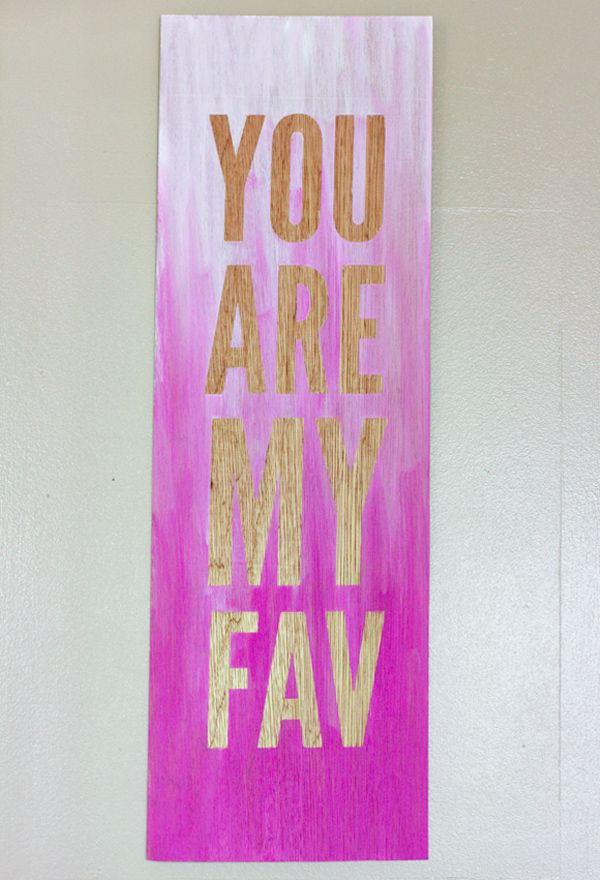 DIY Ombré Quote Wall Art | Quote wall art, Quote wall and Diy ombre