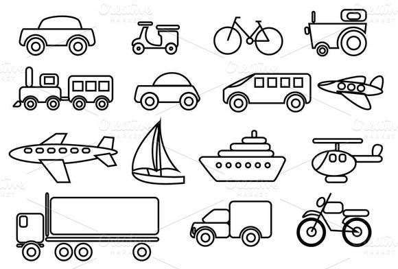 Check Out Transportation Vector Clip Art Set By Amey On
