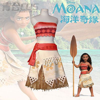 2e26c1567 Princess-Moana-Dresses-Costume-Women-Grils-Cosplay-Clothing-Set-Party- Halloween