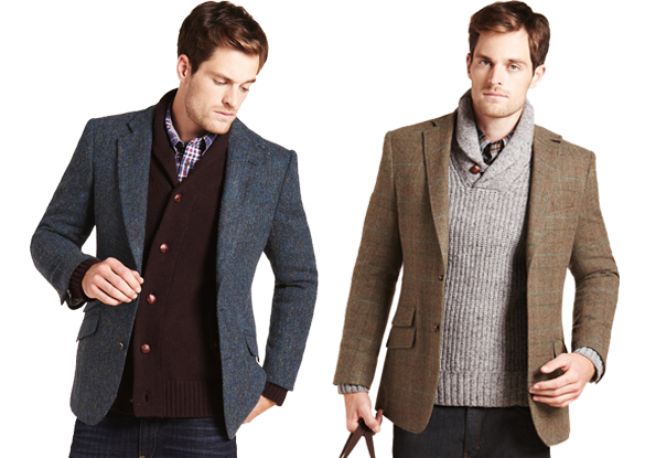 M Men's Tweed Jackets with Shawl-Collar Knitwear | My Style ...