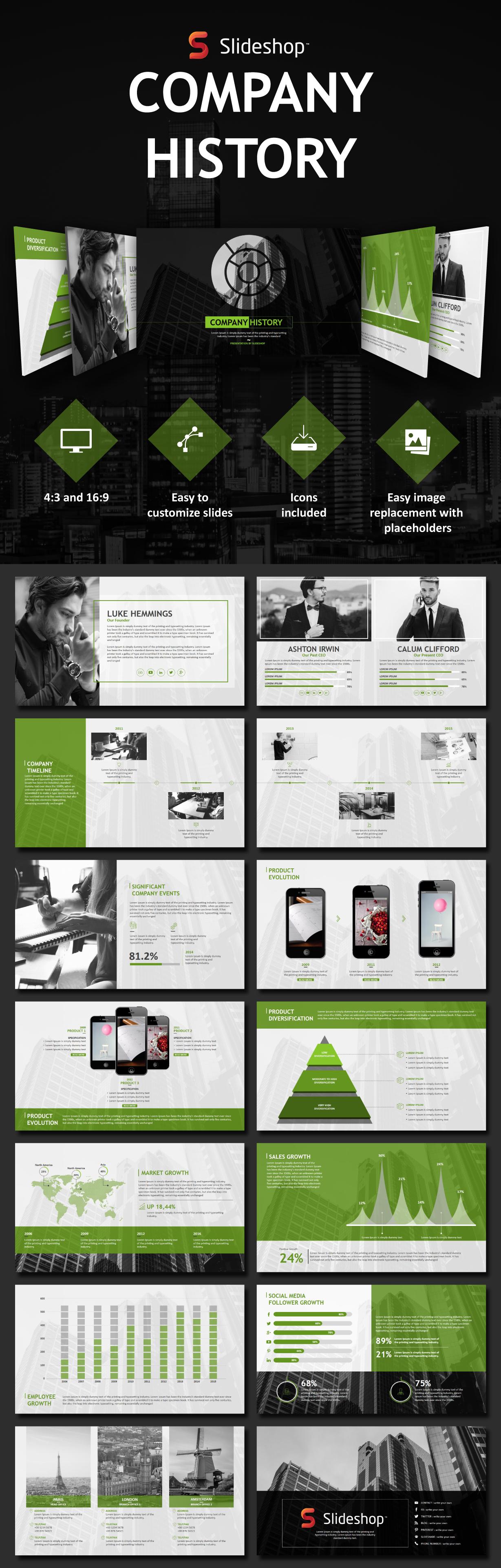 Company history PowerPoint templates #presentation # ...