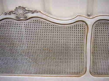 99 Price Reduced French Style King Size Headboard W Cane Panels Shabby Caned Headboard King Size Headboard Headboard