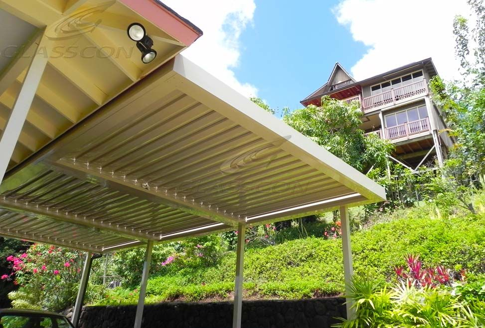 Glasscon Retractable LOUVERED ROOF SYSTEM for atriums