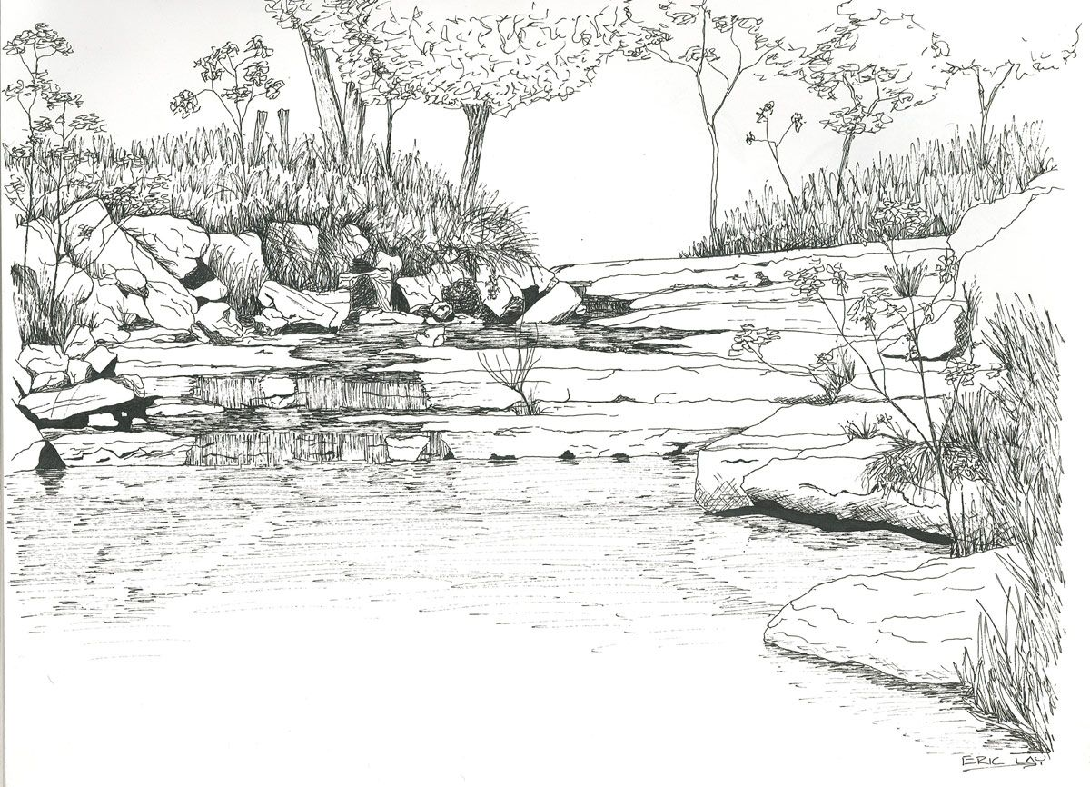 River Landscape Coloring Pages