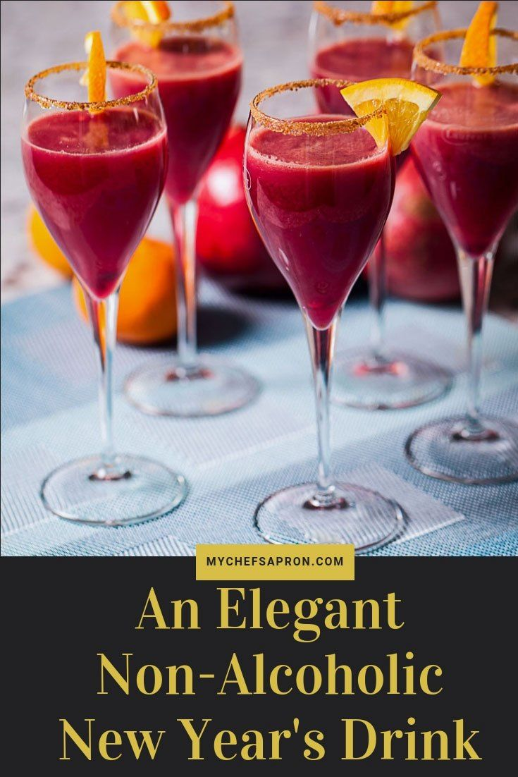 An Elegant Non Alcoholic New Year S Drink Mocktail Nonalcoholic Mocktailrecipes Newyear Newyearseve Drinks Glass New Year S Drinks Non Alcoholic Alcohol