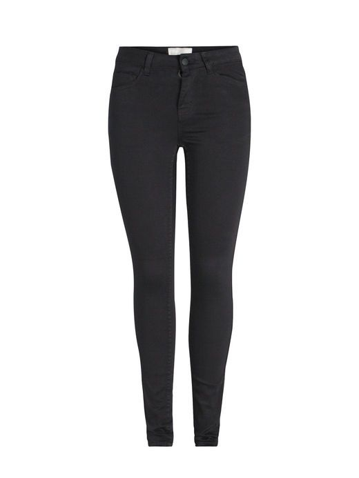 JUST JUTE MIDDELHØJE LEGGINGS, Black