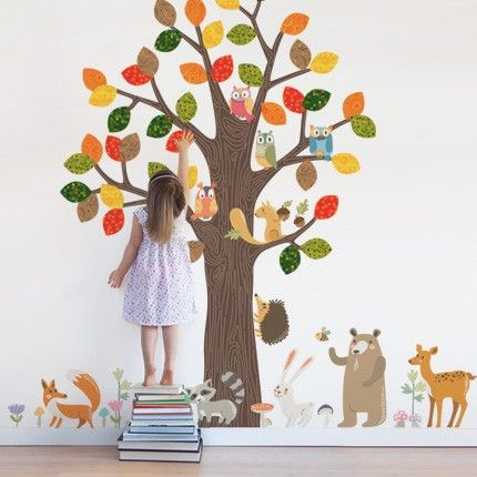 Forest Animals Wall Sticker Peel And Stick Reusable Wall Stickers