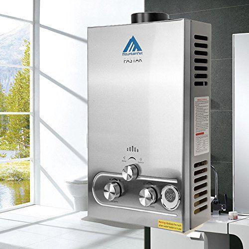 Ridgeyard 12l Lpg Gas Hot Water Heater Propane Tankless Instant Boiler Stainless Steel Ce W Shower Head And Lcd Dis Hot Water Heater Water Heater Water Boiler