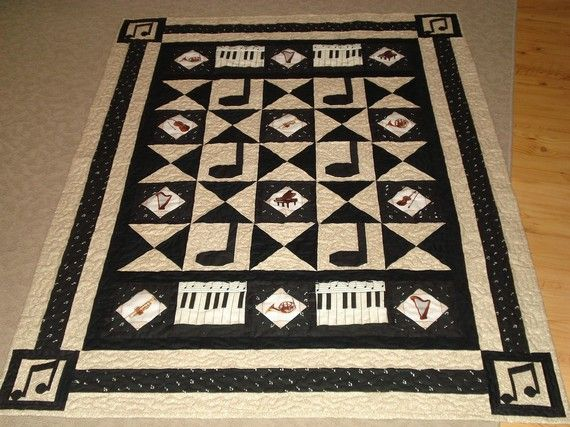 Music Theme Quilt Google Search