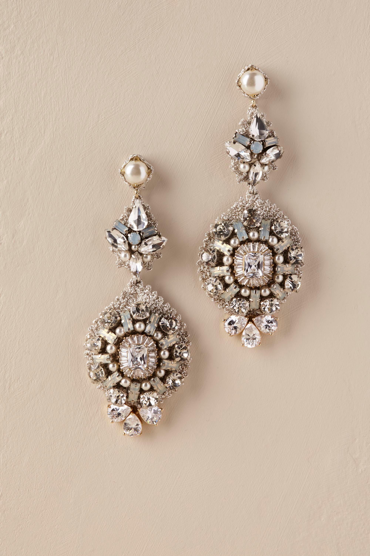 Lynette chandelier earrings from bhldn love these frost