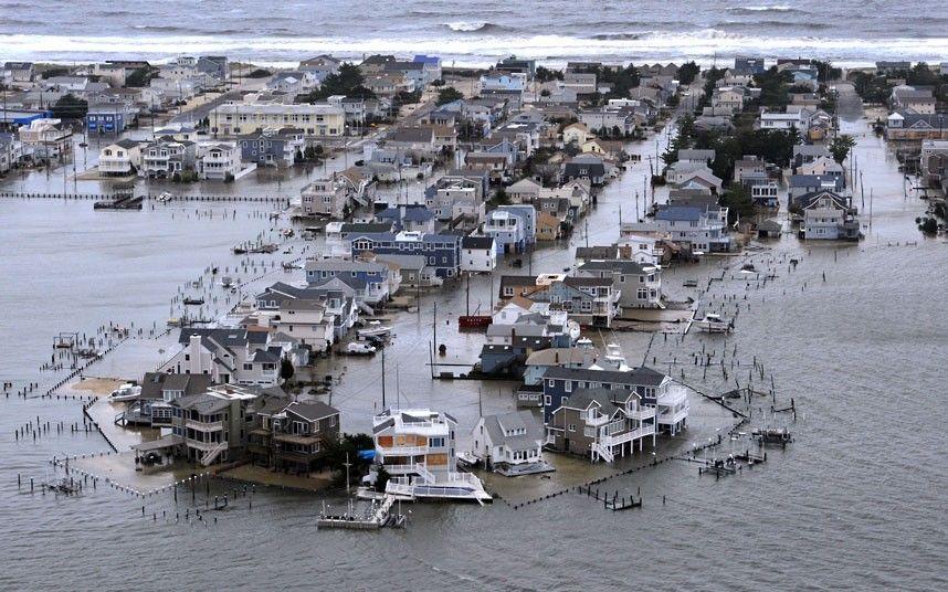 Long Beach Island, NJ. Summer homes, sun and surf. After Hurricane Sandy