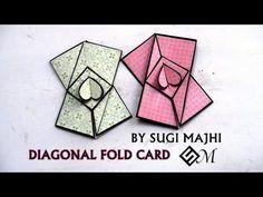 DIY Napkin Fold Card for scrapbook/Tutorial for Scrapbook/tutorial for Explosion box - YouTube #diynapkinfolding