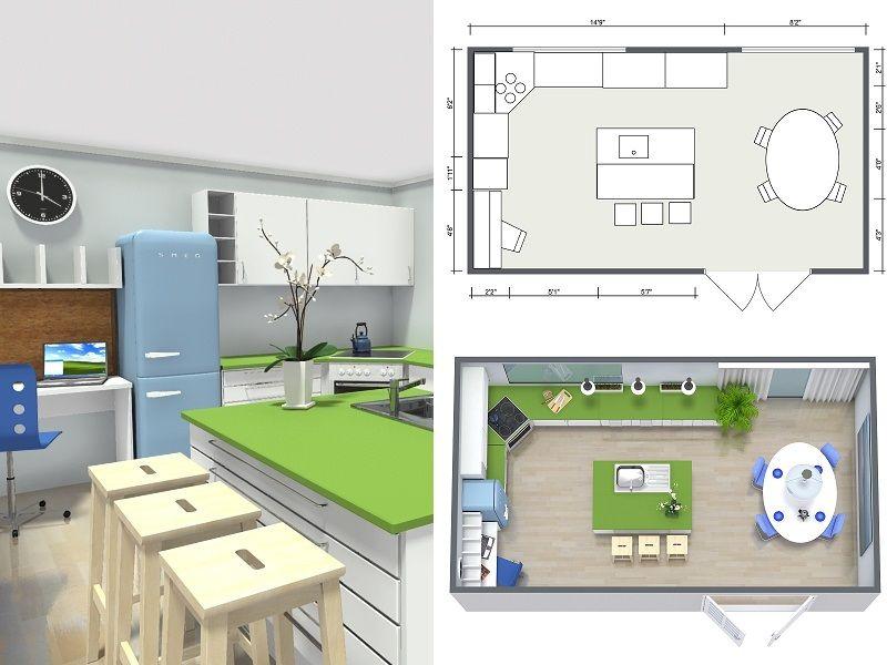 plan your kitchen with roomsketcher kitchen floor plans bathroom interior design kitchen on kitchen remodel planner id=63377