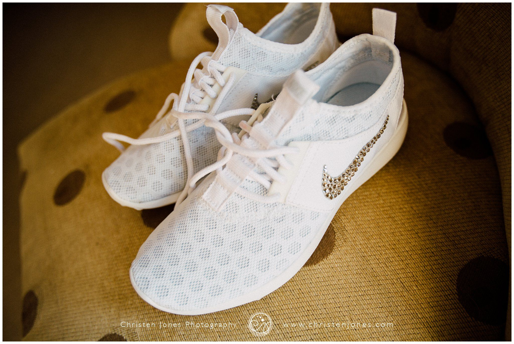 Wedding Day Nike White Shoes Sparkley Swish