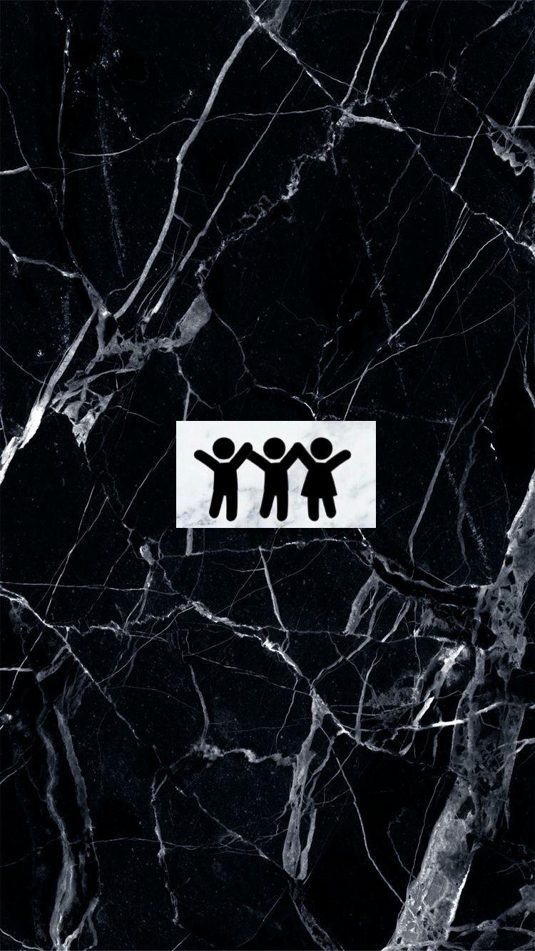 black marble. marble. friends logo. instagram highlights