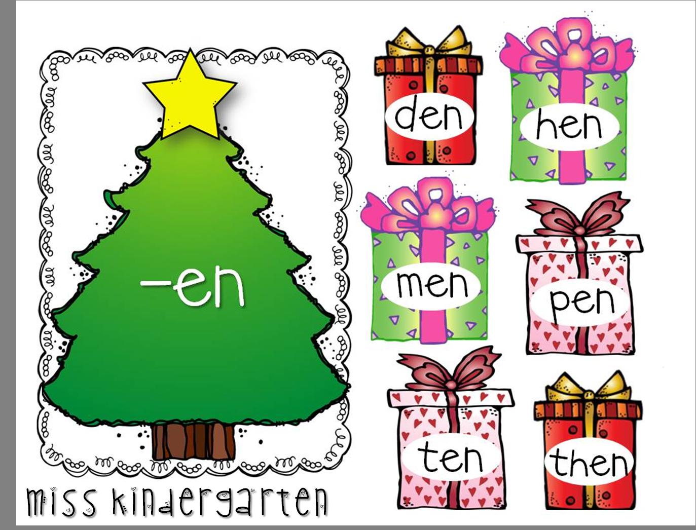 December Games And Centers Kindergarten