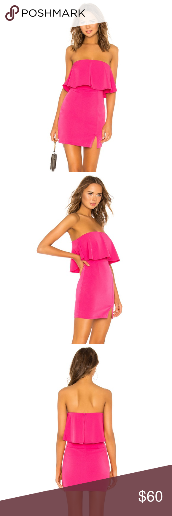 322950be94470 Revolve Catalina Ruffle Tube Mini Dress Revolve: by the way: Hot Pink  Ruffle Tube Mini Dress. Size XS (0-2). by the way Dresses Mini