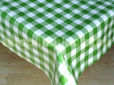 Green Gingham Tablecloth Like The One On Waltons Kitchen Table
