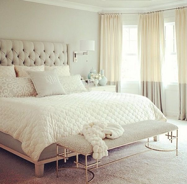 light colored bedrooms